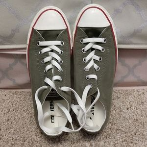 Olive green colored pair of Converse